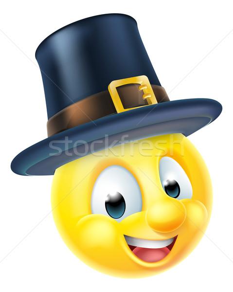 Thanksgiving Emoticon Stock photo © Krisdog