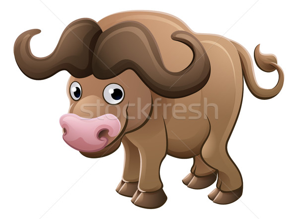 Bison Buffalo Animal Cartoon Character Stock photo © Krisdog
