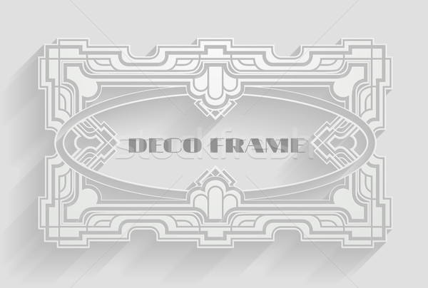 Vintage Deco Frame Background Stock photo © Krisdog