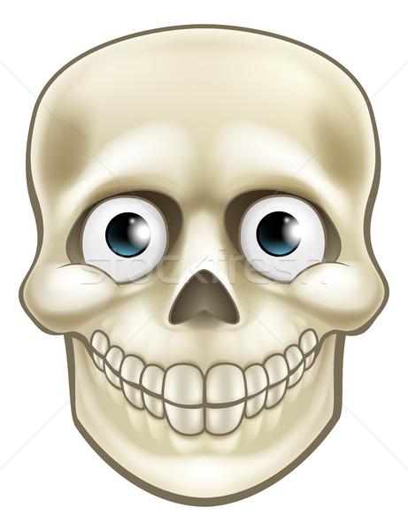 Cartoon Halloween Skull Skeleton Character Stock photo © Krisdog