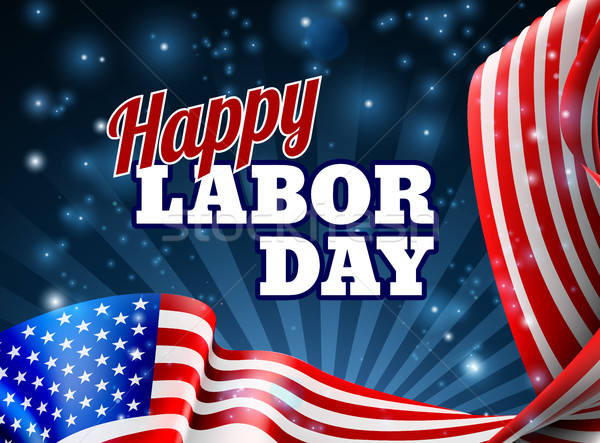 Happy Labor Day American Flag Design Stock photo © Krisdog