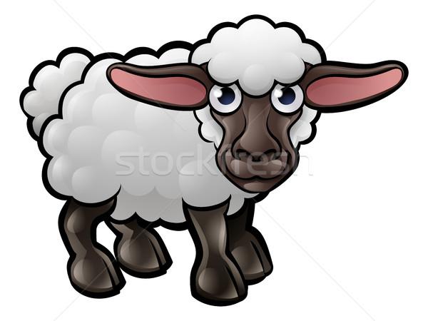овец сельскохозяйственных животных ребенка книга счастливым Сток-фото © Krisdog