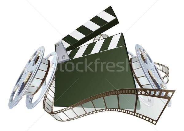 Film film dışarı film makarası örnek dinamik Stok fotoğraf © Krisdog