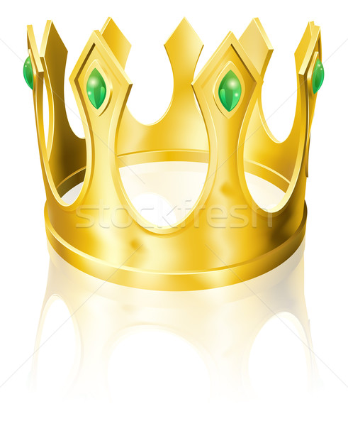 Gold crown illustration Stock photo © Krisdog
