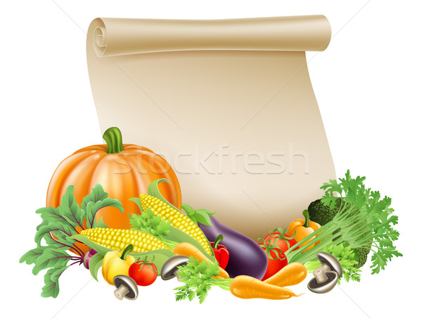 Thanksgiving or fresh produce scroll Stock photo © Krisdog