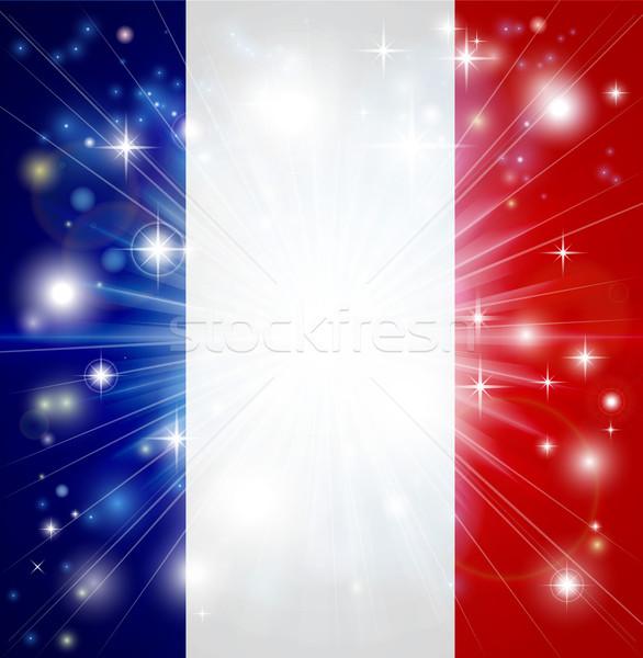 French flag background Stock photo © Krisdog