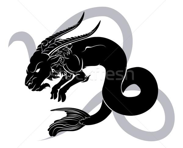 Zodíaco horóscopo astrología signo ilustración mar Foto stock © Krisdog