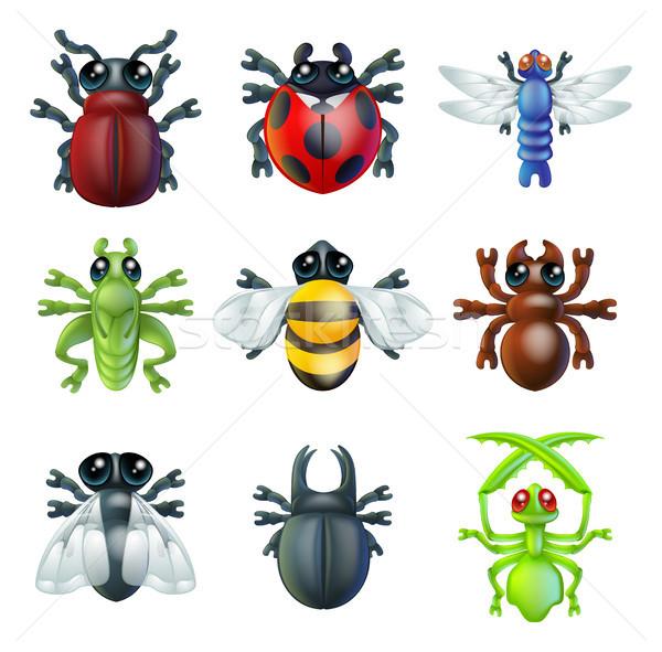 Insect bug icons  Stock photo © Krisdog