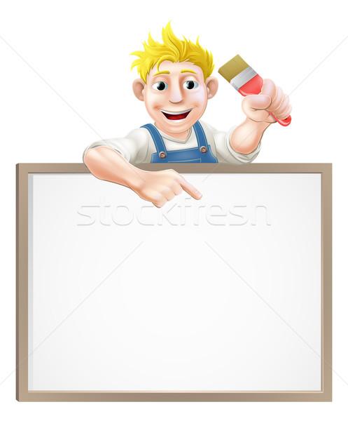 Painter decorator sign Stock photo © Krisdog