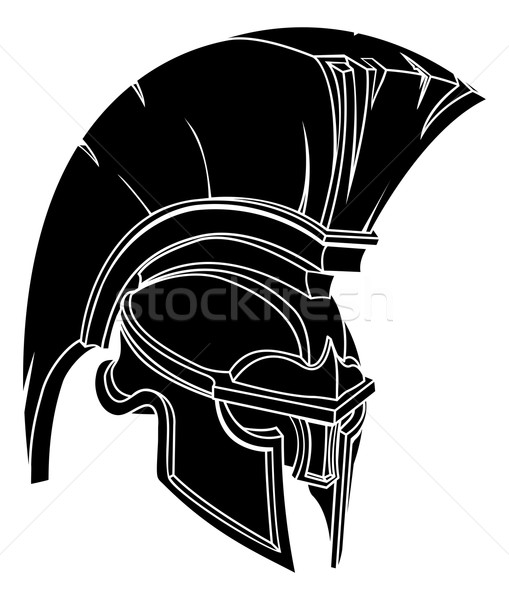 An illustration of a spartan or trojan warrior or gladiator helmet Stock photo © Krisdog