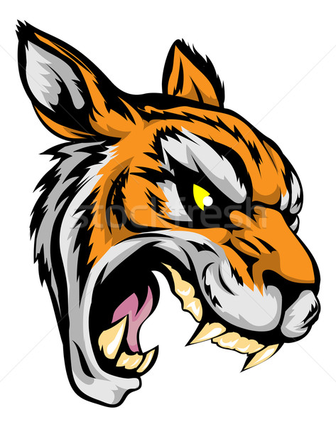 Tiger mascot character Stock photo © Krisdog