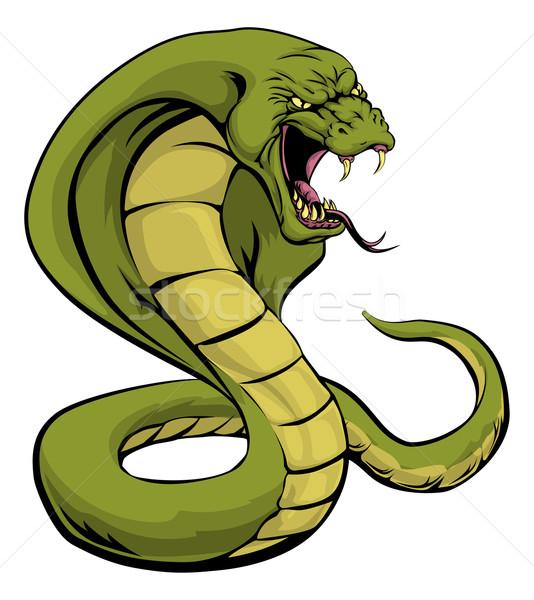 Cobra serpente greve ilustração esportes mascote Foto stock © Krisdog
