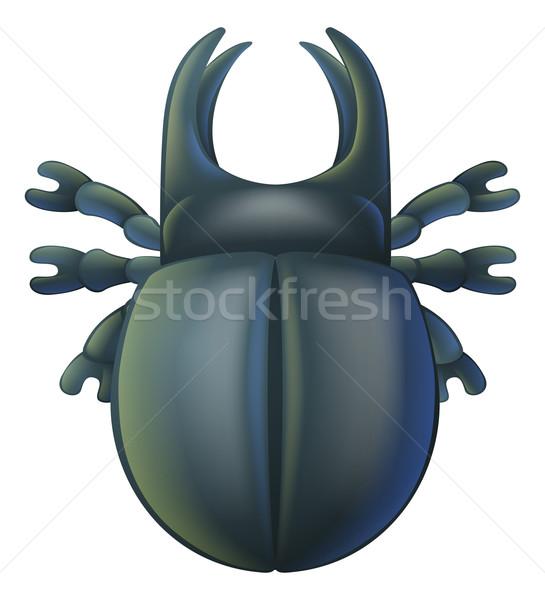 Cartoon insetto bug illustrazione carattere felice Foto d'archivio © Krisdog