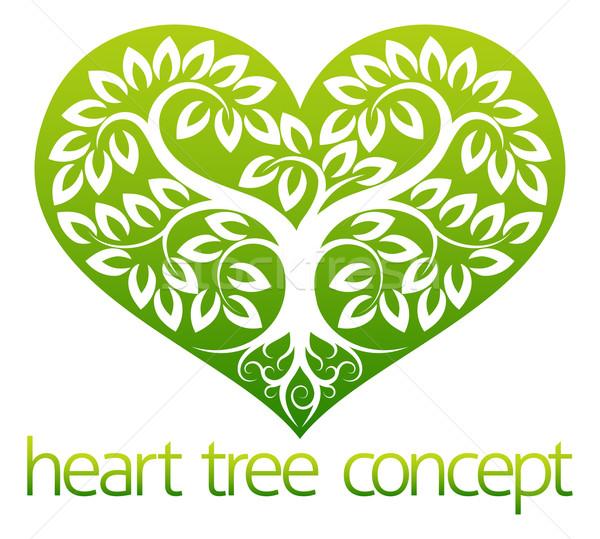 Abstarct Heart Tree Stock photo © Krisdog