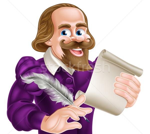 Cartoon Shakespeare Stock photo © Krisdog