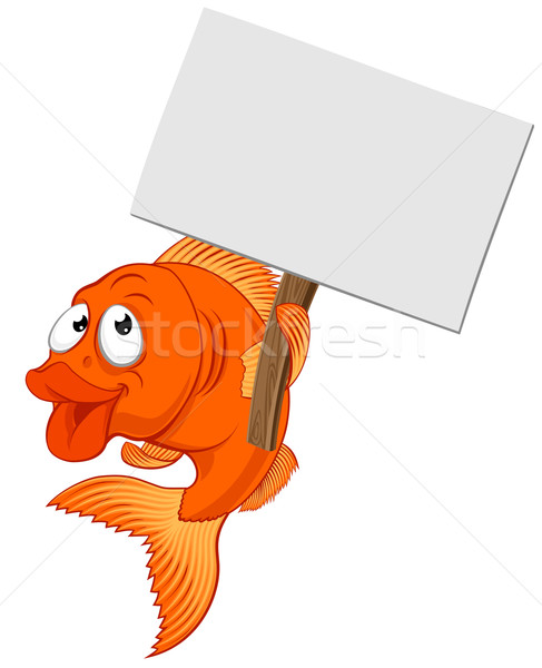Cartoon Goldfish знак характер совета Сток-фото © Krisdog