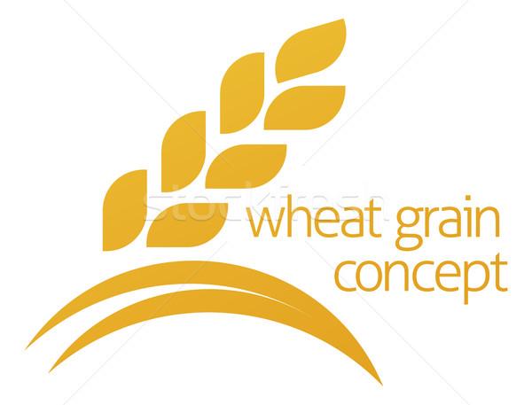 Wheat Corn Grain Icon Concept Stock photo © Krisdog