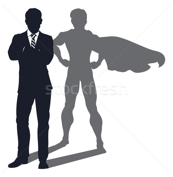 Superhero Shadow Businessman Stock photo © Krisdog