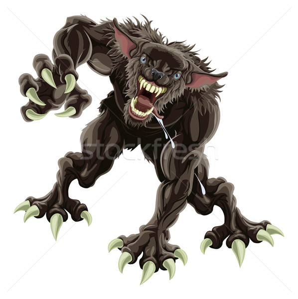 Werewolf illustration Stock photo © Krisdog