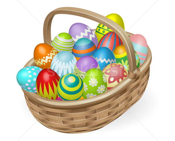 Illustration of painted Easter eggs Stock photo © Krisdog
