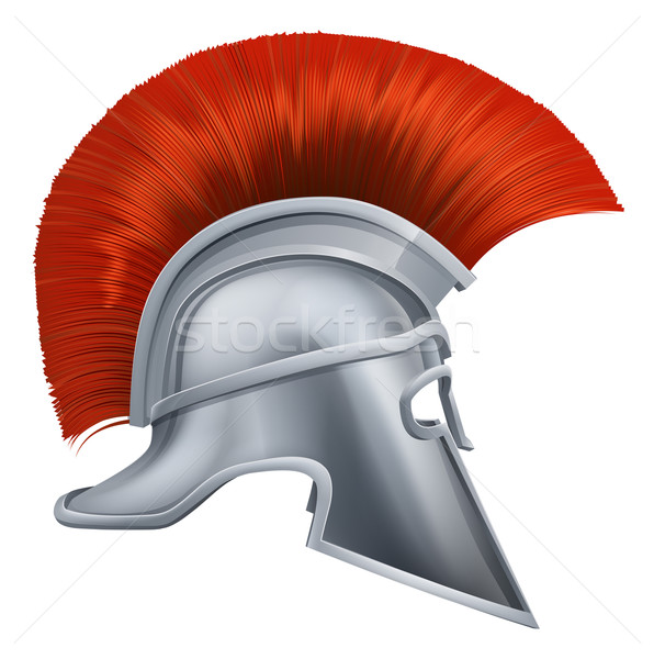 Ancient Greek Warrior Helmet Stock photo © Krisdog
