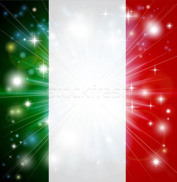 Italian flag background Stock photo © Krisdog