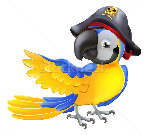 Parrot pirate character Stock photo © Krisdog