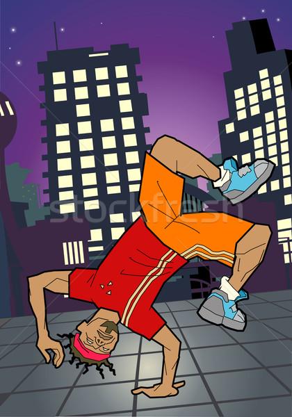 Breaktáncos illusztráció vektor művészet illustrator eps Stock fotó © Krisdog