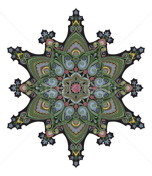 Middle eastern floral pattern motif Stock photo © Krisdog