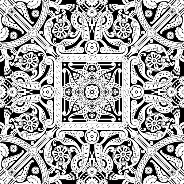 Vintage Islamic Motif Pattern Stock photo © Krisdog