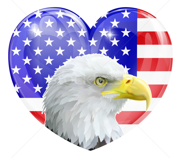 Eagle American love heart Stock photo © Krisdog