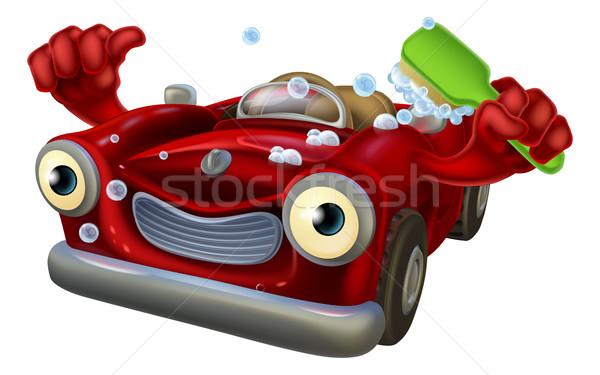 Car wash character Stock photo © Krisdog