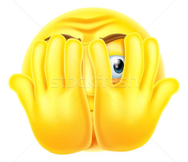 Scared emoticon emoji Stock photo © Krisdog