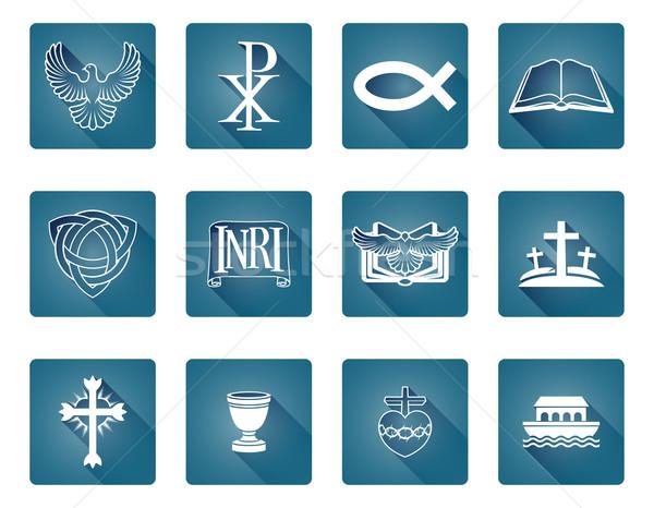 Christian religieux icônes symboles poissons Photo stock © Krisdog