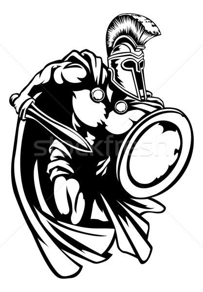 Spartanisch roman Gladiator alten griechisch Stock foto © Krisdog