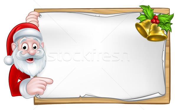 Santa Christmas Sign Stock photo © Krisdog