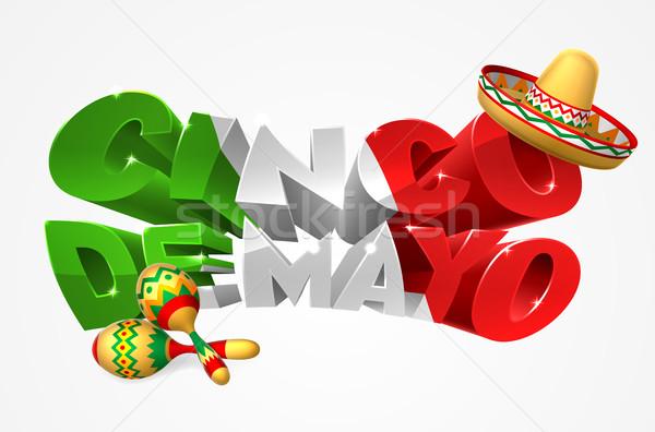 Happy Cinco De Mayo Design Stock photo © Krisdog