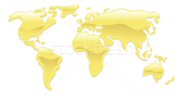 Liquid gold world map Stock photo © Krisdog