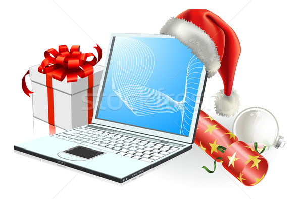 Christmas laptop computer Stock photo © Krisdog