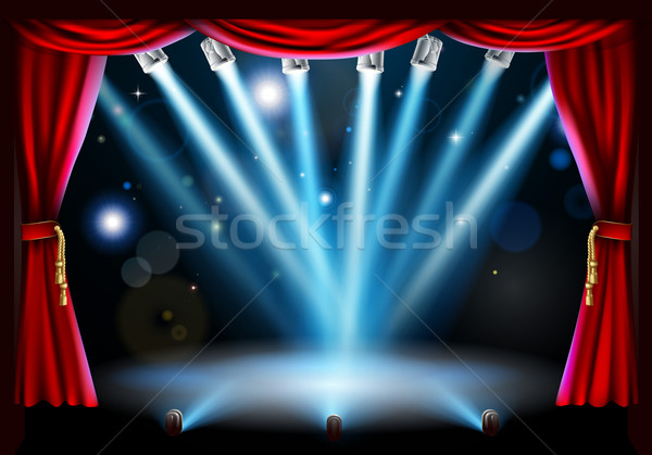 Centre stage background illustration Stock photo © Krisdog