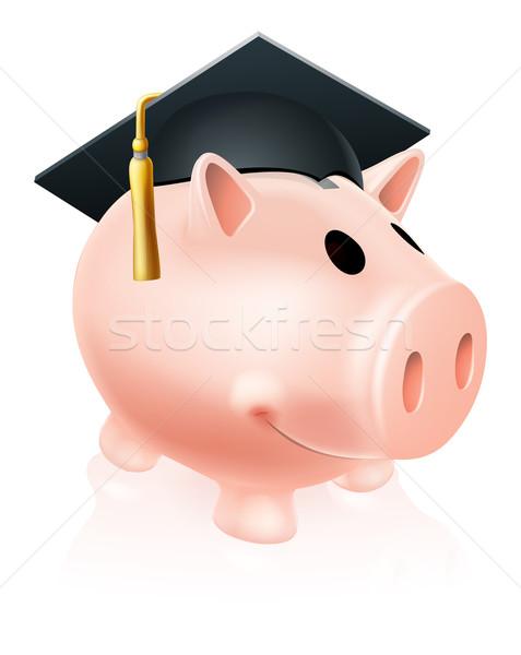 Mortar Board Piggy bank Stock photo © Krisdog