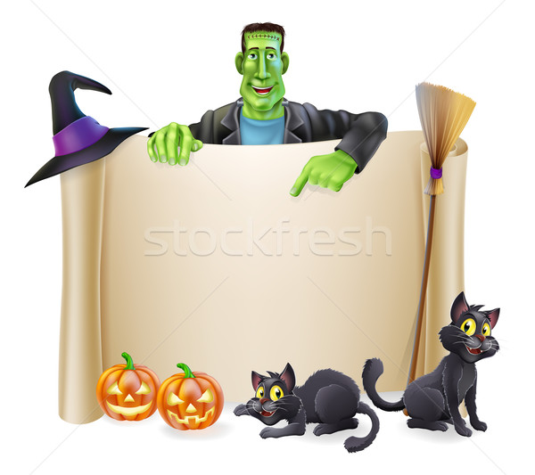 Halloween Scroll Background Stock photo © Krisdog