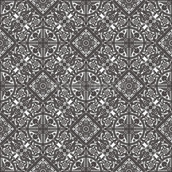 Vintage Middle Eastern Arabic Pattern Stock photo © Krisdog