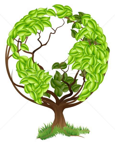 Green Tree Globe Earth World Concept Stock photo © Krisdog