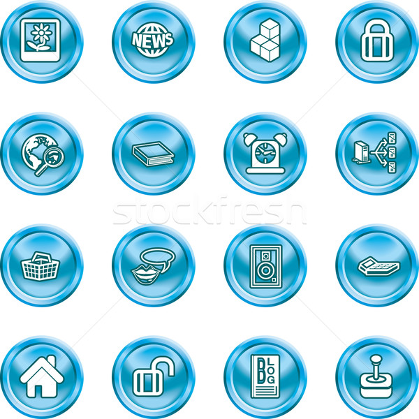 internet and computing media icons Stock photo © Krisdog