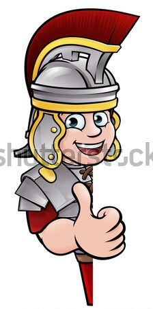 Illustration of Roman soldier Stock photo © Krisdog