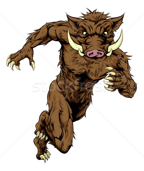 Boar character running Stock photo © Krisdog