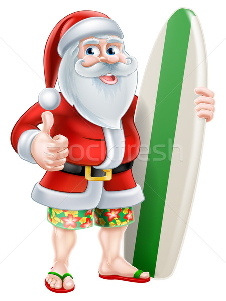 Cartoon Summer Santa Stock photo © Krisdog
