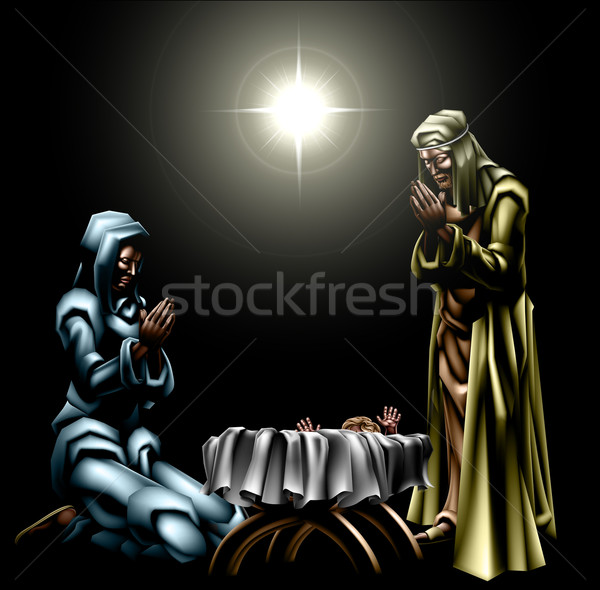 Christmas Christian Nativity Scene Stock photo © Krisdog