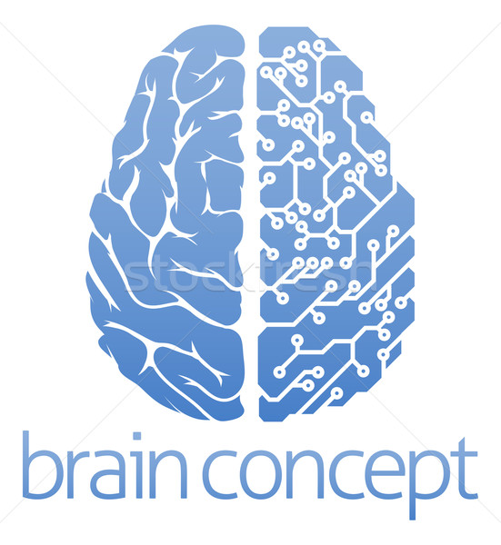 Brain circuit board concept Stock photo © Krisdog